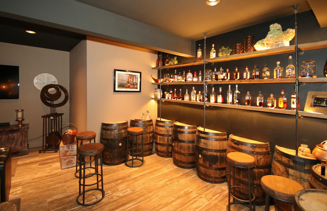 bourbon basement rustic basement cincinnati by fricke