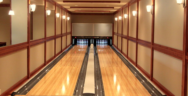 bowling alley eclectic basement seattle by concept