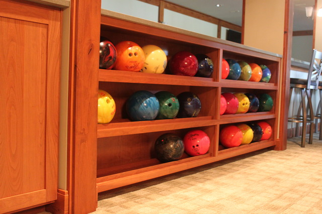 Bowling Alley Installation Eclectic Basement Seattle