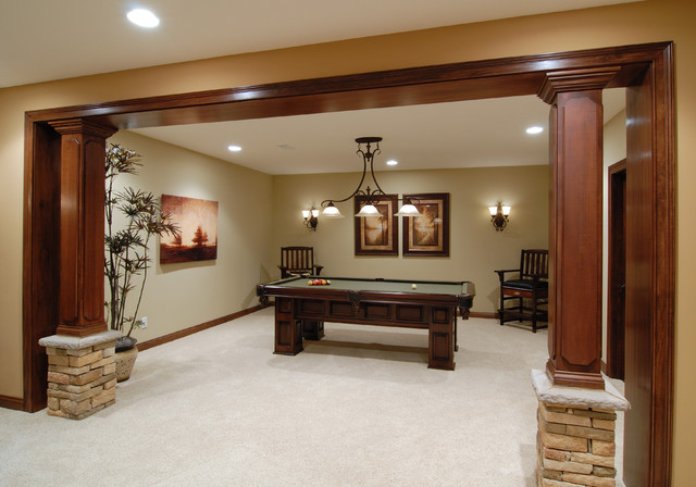 Bradford Court Traditional Basement Cincinnati By