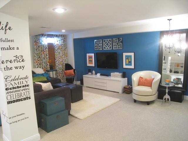 Bright Family Basement transitional-basement