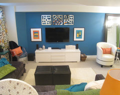 Bright Family Basement transitional-basement