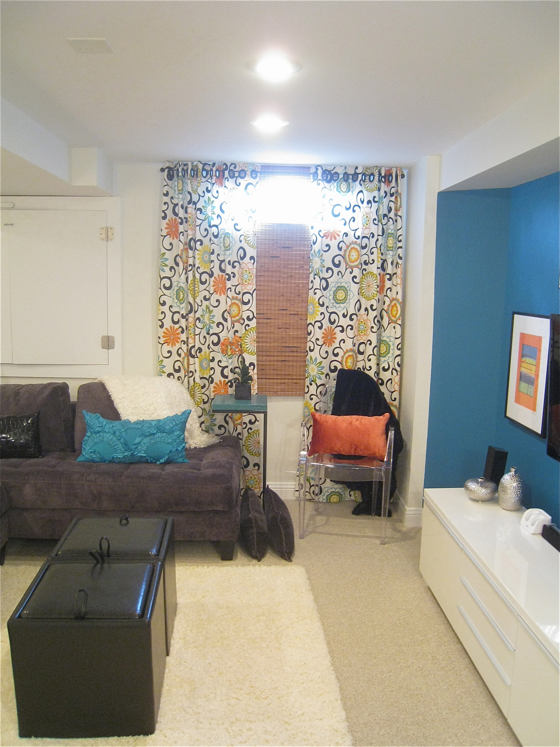 Image of: Basement Window Curtains Houzz