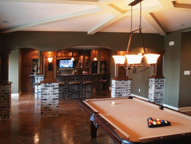 Brookside 2 House traditional-basement