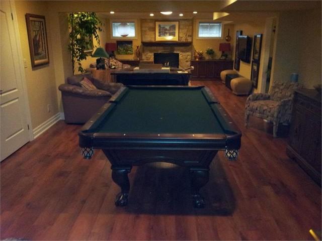 Brunswick Glenwood Pool Table In Recreation Room Traditional - Brunswick glenwood pool table