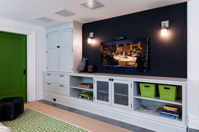 Built Ins Contemporary Basement Seattle By J A S