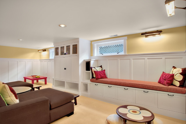 Built-Ins - traditional - basement - seattle - by J.A.S. Design-