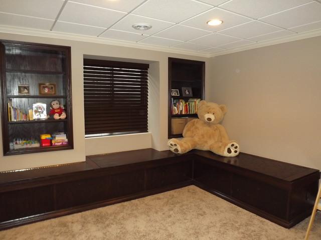 finished basements traditional basement