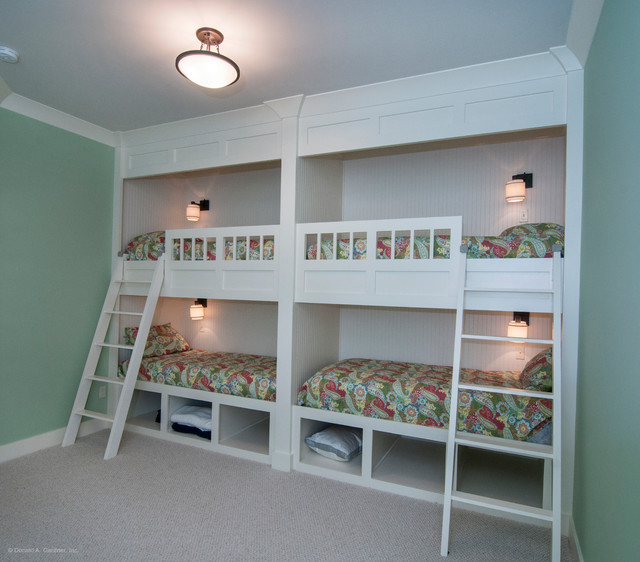 Bunk beds the gilchrist plan 734 d arts crafts for Arts and crafts bed plans