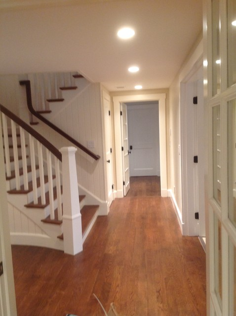 Cape cod basement renovation transitional basement for Cape cod remodel ideas