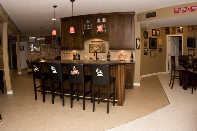 cardinals basement traditional basement st louis by j t mcdermott remodeling. Black Bedroom Furniture Sets. Home Design Ideas