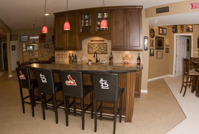 Cardinals Basement traditional-basement