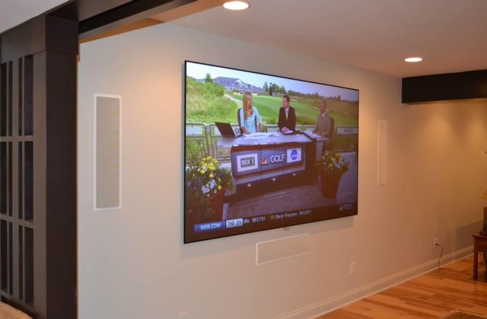 Carmel, IN - Basement Media Room