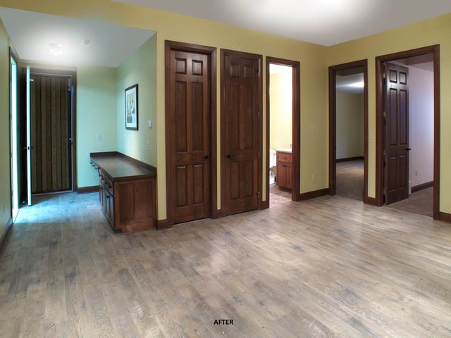 Central Ohio Hunting Lodge Addition traditional-basement