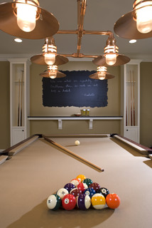 Chalkboard Painted Wall - Traditional - Basement ...