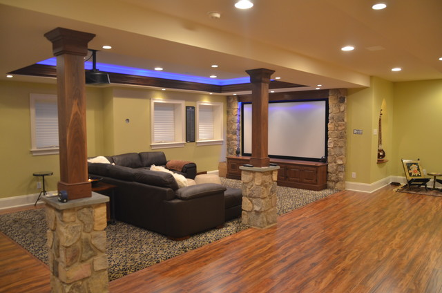 basement finishing at cherry creek farm west chester pa traditional basement philadelphia. Black Bedroom Furniture Sets. Home Design Ideas