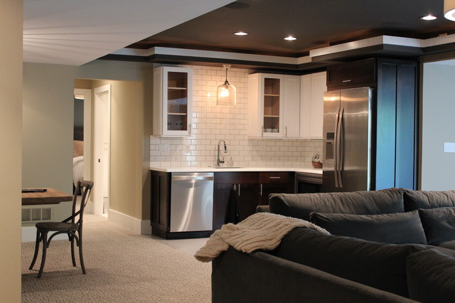 Chic And Casual Lower Level Renovation Transitional Basement
