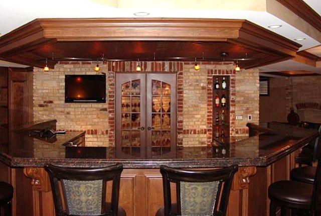 Chicago Brick Veneer Traditional Basement Chicago