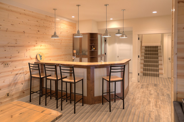 Classic cottage beach style basement other by mac custom homes