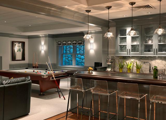 classical shingle traditional basement boston by