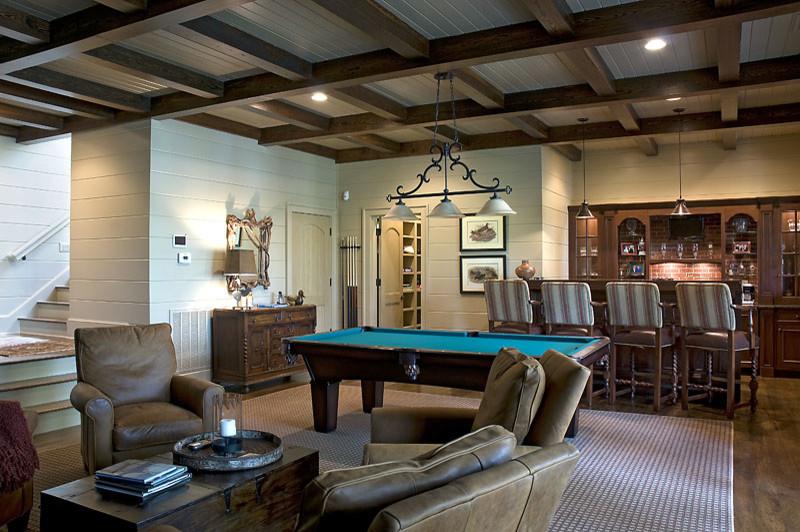 Basement - traditional brown floor basement idea in Atlanta