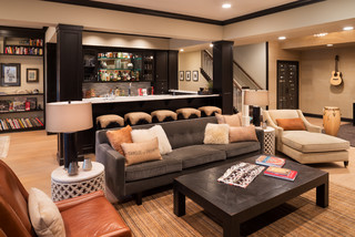 Comfortable Cottage Style transitional-basement
