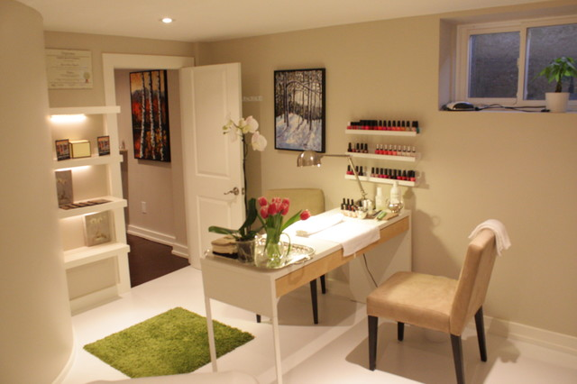 nail salon ideas design nail salon design ideas ahomedesigns example of a basement design in toronto - Nail Salon Interior Design Ideas