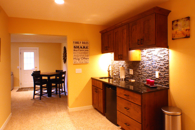 Complete Basement Remodel traditional-basement