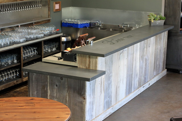 Concrete Bar Top Craftsman Basement San Francisco