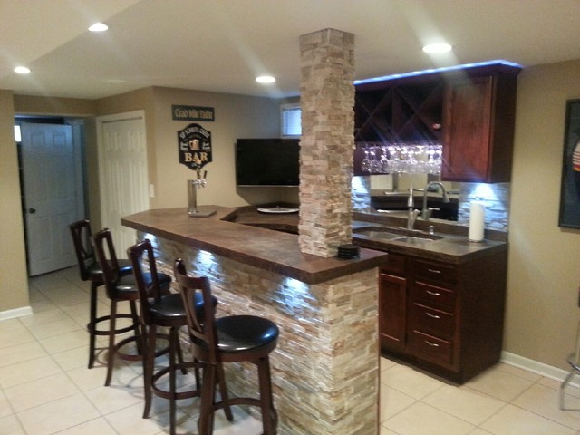 concrete countertops traditional basement other