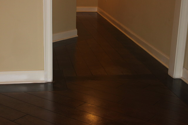 concrete hardwood floor basement basement atlanta by