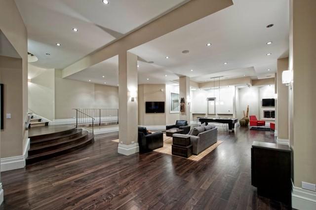 Contemporary basement for Interior design 08003