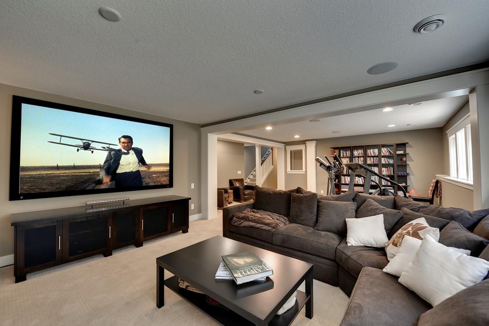 Basement - contemporary basement idea in Minneapolis