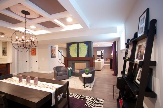 Evanston Basement contemporary-basement