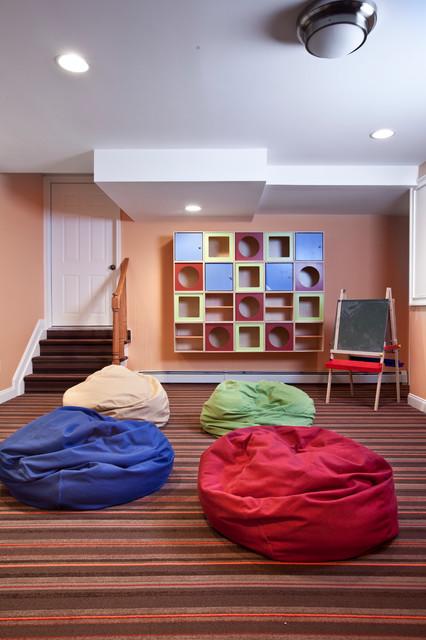 Essex Fells Home traditional-basement