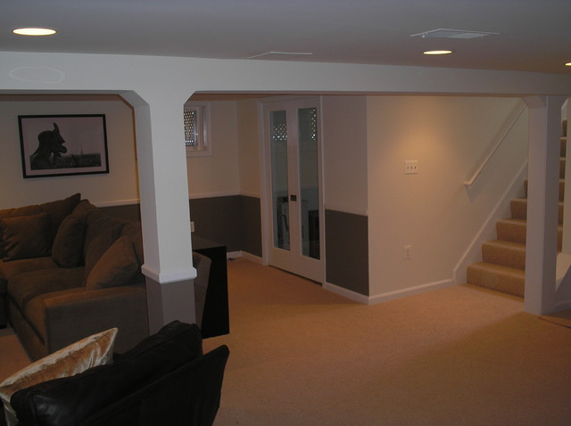 cook bros of arlington va basement family rooms traditional basement. Black Bedroom Furniture Sets. Home Design Ideas