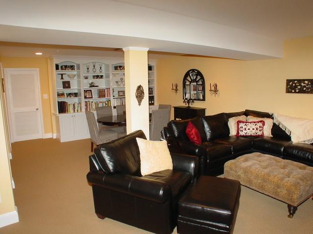 Cook Bros. of Arlington, Va. - Basement family rooms traditional-basement