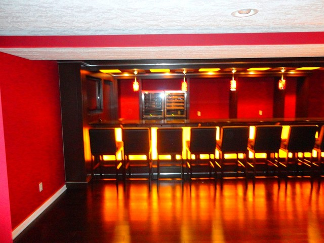Cool basement bar ideas modern basement cleveland by jm design build - Cool home bar ideas ...