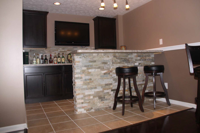 Cool Irish Themed Basement Bar Idea Traditional Basement