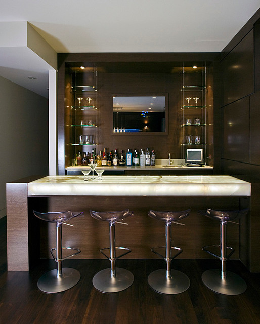 Home Bar Design Ideas Houzz: Cortland Residence