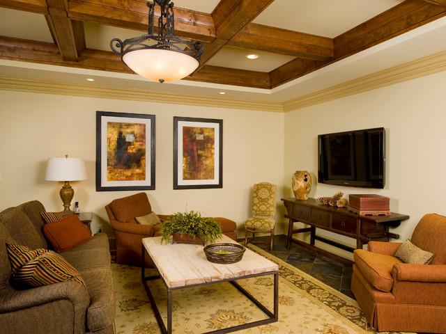 Cozy Basement Of Georgia Interior Design In Atlanta Traditional Basement Houston By