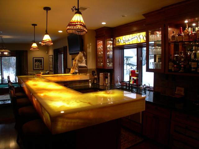Craftsman Basement Finish traditional-basement