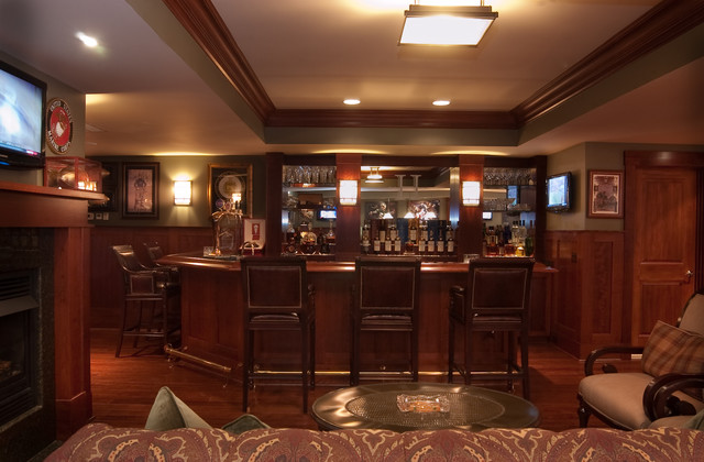 Classy Man Cave Furniture : Crownsville man cave traditional basement baltimore by