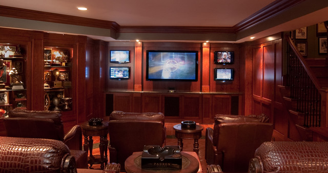 annapolis man cave traditional basement baltimore by lang and