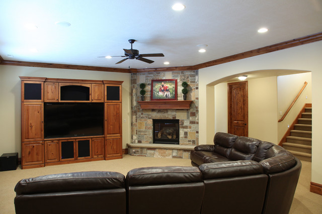 Curtis Residence traditional-basement