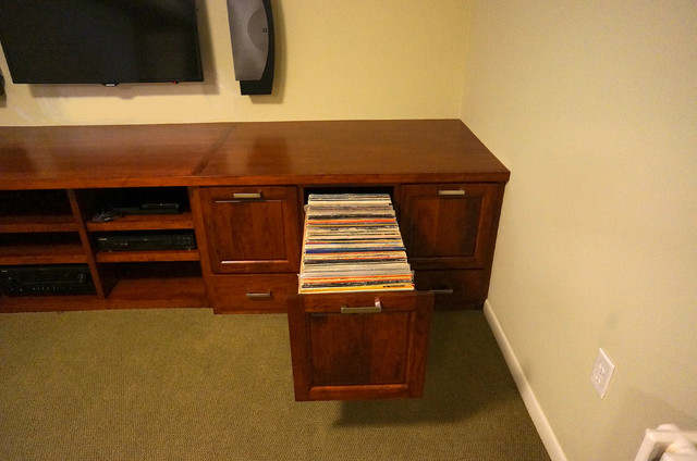 custom records cabinet