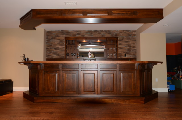 Custom bars rustic basement toronto by brice 39 s furniture - Rustic bar ideas for basement ...