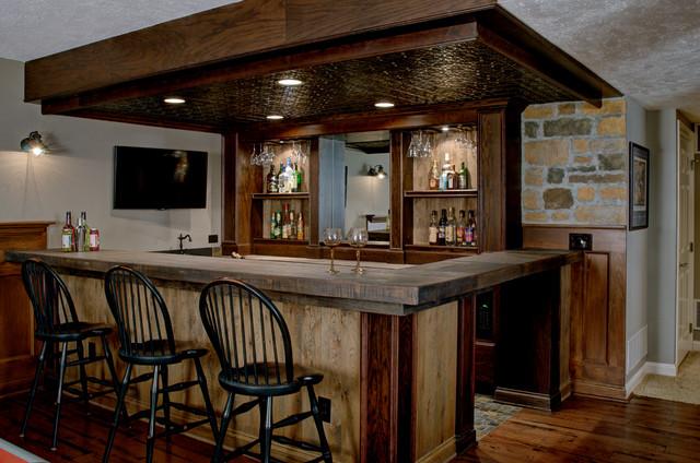 Custom Basement Bar Rustikal Keller Amp Hobbyraum