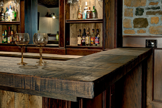 Custom Basement Bar - Rustic - Basement - columbus - by Dave Fox Design Build Remodelers