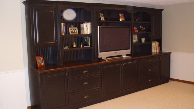 custom built wall unit traditional basement other metro by